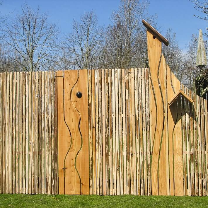 Vogelzaun kombiniert mit einem Walden Bernsteinzaun