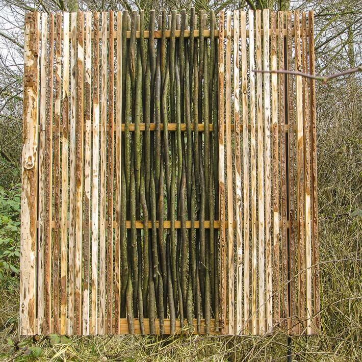 Lärchenholz mit Weidenfüllung